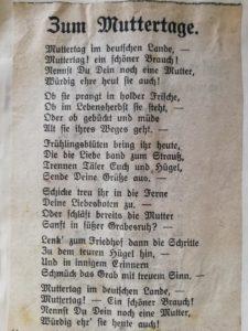 Zum Muttertage - Gedicht vom Martha Grundmann